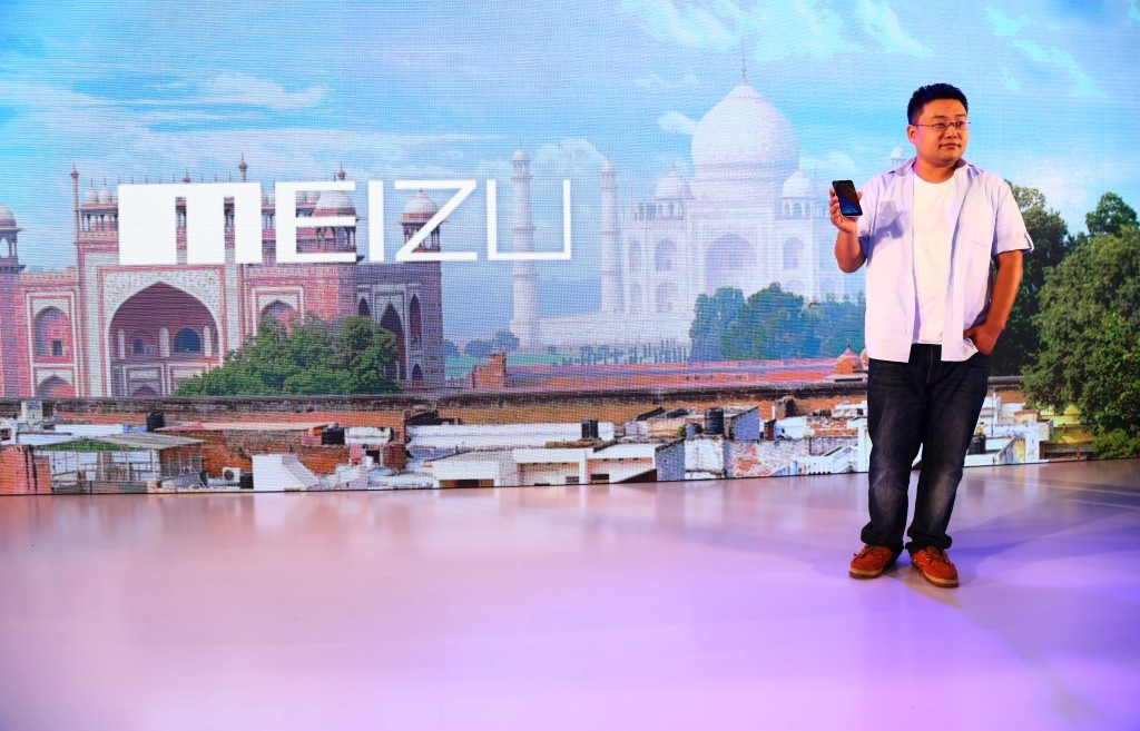 Mr. Li Nan, Vice President,Marketing, Meizu- unvieling the Meizu MX5